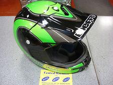 CASCO CROSS BIEFFE MX SPORT S BLACK AND GREEN MOTORCYCLE HELMET HELM CASQUE NEW