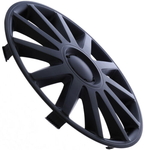 """4 PC SET Hub Cap ABS MATTE BLACK 14/"""" Inch for OEM Steel Wheel Cover Caps Covers"""