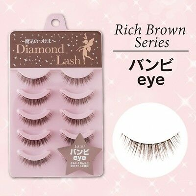 "Diamond Lash☆Japan-FALSE EYELASH Rich Brown Series  5 Pairs ""Bambi eye"""