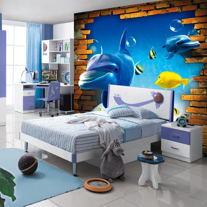 3D Delphin Und Fisch 84 Tapete Wandgemälde Tapete Tapeten Bild Familie DE    Große Ausverkauf    Feinbearbeitung    Quality First