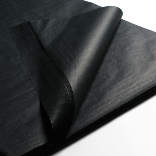 PREMIUM BLACK TISSUE PAPER~20x30~24 SHEETS~BLACK GIFT WRAP TISSUE PAPER-POM POMS