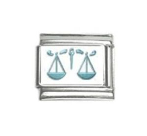 Italian European Style Bracelet Charm Bead Libra The Scales Zodiac Horoscope
