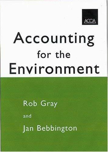 Accounting Für Die Umwelt Taschenbuch Rob Gray