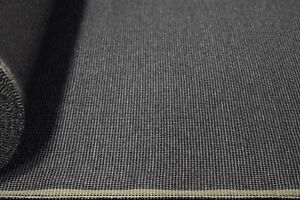 Vintage-Coal-Grey-Canvas-Tweed-Fabric-56-034-W-Seat-Upholstery-Church-Pew-Auto