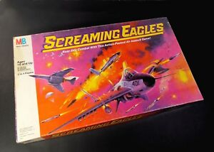 Screaming-Eagles-Air-Combat-Action-Board-Game-Vintage-1987-MB