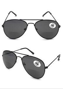 fb7e174eac9 Image is loading SL293B-Aviator-Bifocal-Sunglasses-Reading-Glasses-Classic- Stylish-