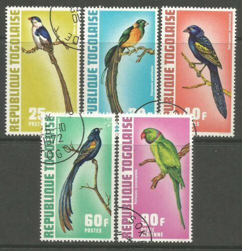 TOGO. 1973. Exotic Birds Set. SG: 893/97. Fine Used - Cancelled to Order/CTO.