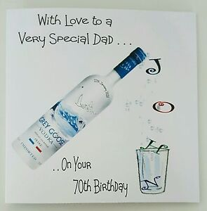 Personalised birthday card dad 70th vodka brother friend sister image is loading personalised birthday card dad 70th vodka brother friend bookmarktalkfo Gallery
