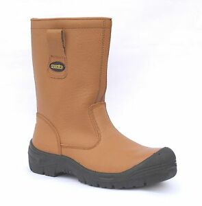 Steel Rigger Tuffking Bump Cap Lined S1p 9049 Boots Fur Toe Safety Tan Mens wvqvYxCUr