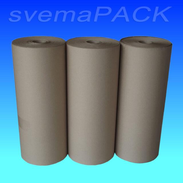 3 Rollen Schrenzpapier 80g 50cm x 250m Packpapier Verpackungspapier Knüllpapier