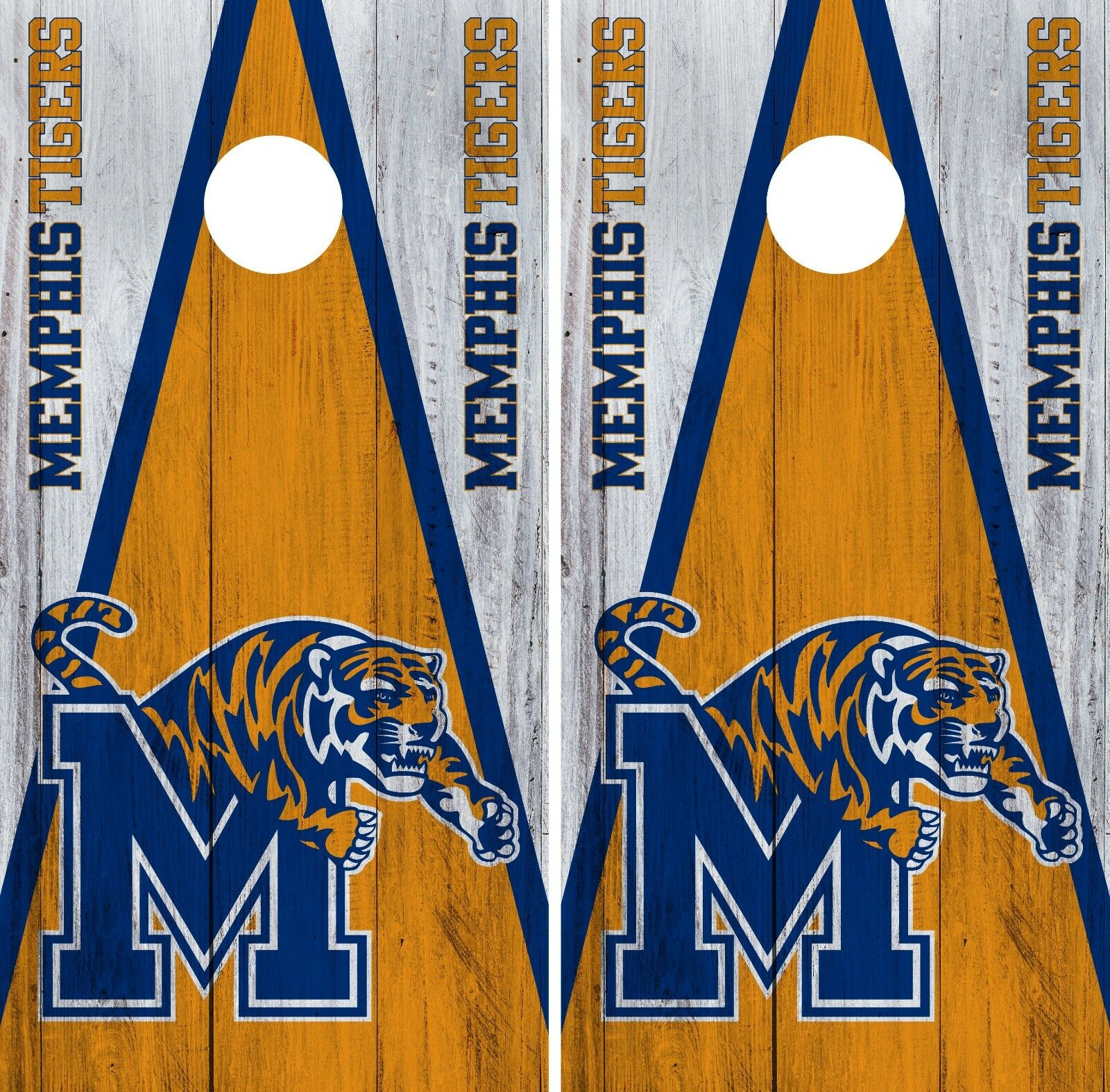 Memphis Tigers Cornhole Wrap NCAA College Game Board Skin Vinyl Decal Set CO775
