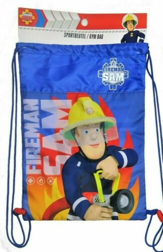 Turnbeutel Sportbeutel Kinder blau Feuerwehrmann Sam Paw Patrol Nickelodeon