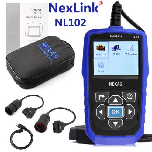 NEXAS NL102 HEAVY DUTY TRUCK /& CAR OBD2 DIAGNOSTIC HD CODE READER DIESEL SCANNER