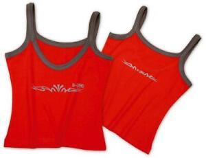 Algodón Camiseta Jersey Señora de la mujer de la ropa interior Rojo L