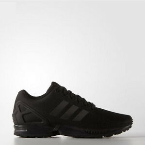 Adidas S79092 Originals Zx Flux Triple Black Running Shoes Sneakers Women Men