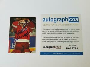 Mike-Vernon-Detroit-Redwings-Autographed-Signed-Hockey-Card-Goalie-ACOA