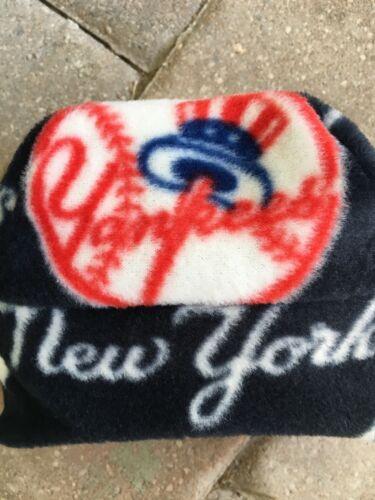 New York Yankees NYY Ear Flap Fleece Hat Sizes Newborn to Children Men Women/'s