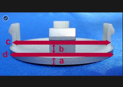 4x tapacubos llantas tapa radzierdeckel 74,5 mm 69,5 mm gris para mercedes k75n