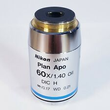 New Listingnikon Plan Apo 60x140 Dic H 017 Wd 021 Oil Microscope Objective