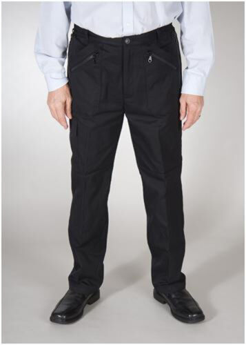THERMAL LINED MENS SIDE ELASTICATED ACTION TROUSERS  POLY// COTTON FABRIC  WATER