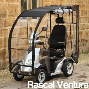 Image is loading Rascal-Ventura-Mobility-Scooter-Rain-Canopy -Deluxe-Polycarbonate- & Rascal Ventura Mobility Scooter Rain Canopy Deluxe Polycarbonate ...