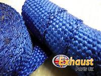 Blue New Exhaust Heat Wrap High Temp Manifold Perfromance Exhaust Turbo - 1 M