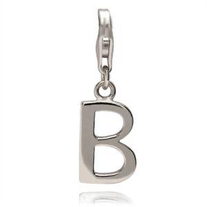 Rafaela-Donata-Damen-Charm-Anhaenger-echt-Silber-925-Sterling-Buchstabe-B