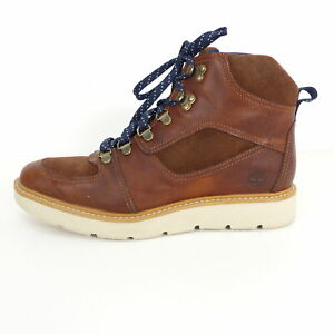 Details zu TIMBERLAND Boots Stiefel Gr. 9,5 W EUR 41 Damen Lederschuhe Braun Leder Schnürbo