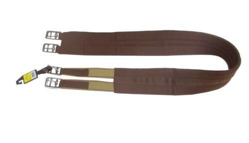 Baumwoll Sattelgurt Horse Harmony mit Elasik braun NEU