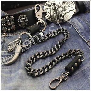 Vintage-Mens-Heavey-Metal-Trucker-Biker-Keychain-Key-Jean-Wallet-Chain-Xmas-Gift