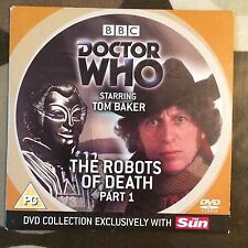 DOCTOR WHO TOM BAKER THE ROBOTS OF DEATH PART 1 SUN PROMO DVD