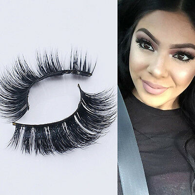 Real 3D Mink Natural Thick False Fake Eyelashes Eye Lashes Makeup Extension New