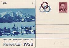 CSSR Tschechoslowakei Postkarte Nr. 109 ** Klement Gottwald Ski  Hohe Tatra  -9