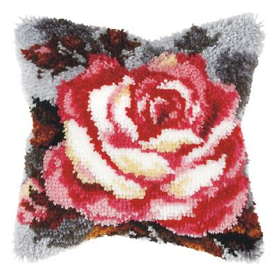 Orchidea Latch Hook Cushion Kit Large Rose Needlecraft Kits 5902067308028 Ebay