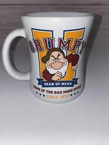 Disney Store Grumpy U Coffee Mug Dean of Mean Home Of The Bad Mood Dudes Used