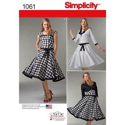 SIMPLICITY VINTAGE RETRO ROCKABILLY DRESS /& JACKET//SHRUG SEWING PATTERN SZ 4-20