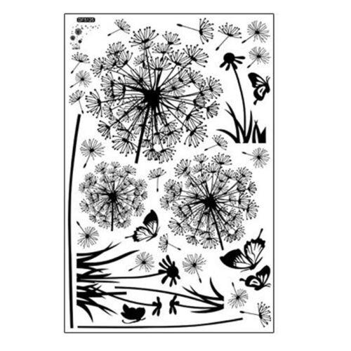 """Butterfly Flying In Dandelion/"""" flowers room stickers Poastoral Style Wall Sticke"""