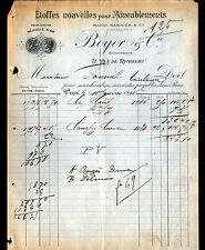 """PARIS (II°) ETOFFES pour AMEUBLEMENT """"BERNIER / BOYER & Cie"""" 1895"""