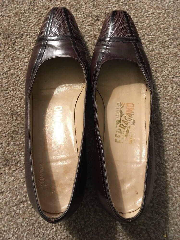 "damen braun Ferragamo Ferragamo Ferragamo 1.75"" Heel schuhe, Größe 7.5B, Made In  4e4cac"