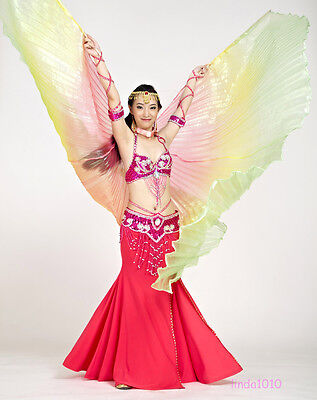 New Belly Dance Costume 360° Isis Wings gradient colors & Colourful 9 Colours