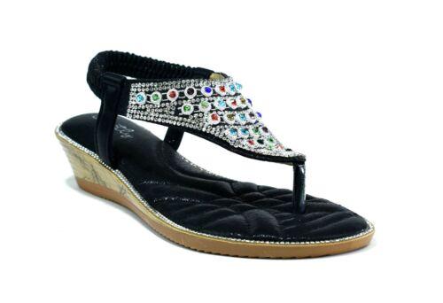 Ladies New Stone Establishment Toe Post Back Sling Stunning Women Sandals
