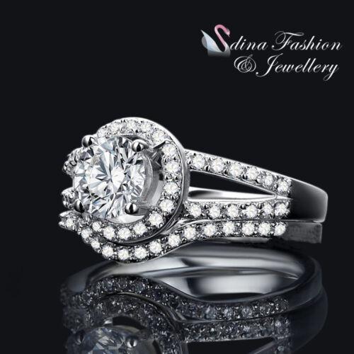 Most Popular 925 Sterling Silver SONA Diamond 0.9 Ct Engagement Wedding Ring Set