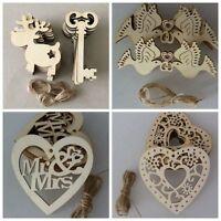 10pcs Christmas Keys/ Reindeers Star Wooden MDF Blanks Xmas Tree Hangers Tags