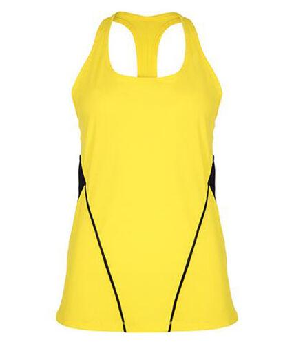 Womens Ladies Girls GYMLUXE Training Activewear Yoga Long Line Vest Top Gym