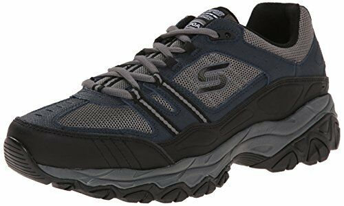 Skechers Sport Mens Afterburn Strike Memory Foam Lace-Up Sneaker 7 M