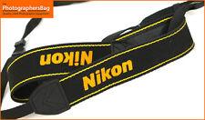 Nikon  Black & Yellow Genuine Camera Strap - faded / worn  + Free UK POST
