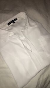 Foreign-Exchange-Womens-White-Long-Sleeve-Sheer-Blouse-Size-Medium