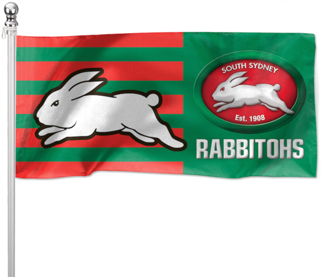 Nrl South Sydney 1800x900mm Rabbitohs Pole Flag For Sale Online Ebay