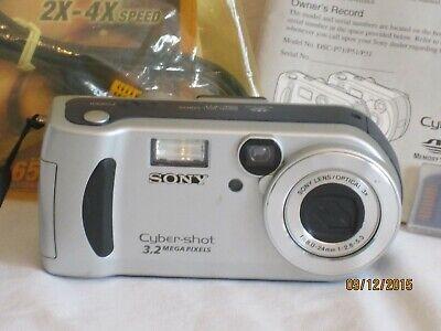 Sony Cyber-shot 3.2 Mega Pixels Vintage Camera 24mm W/manual Cords