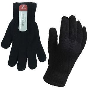 Ladies//Womens Plain Winter Magic Gloves GL310